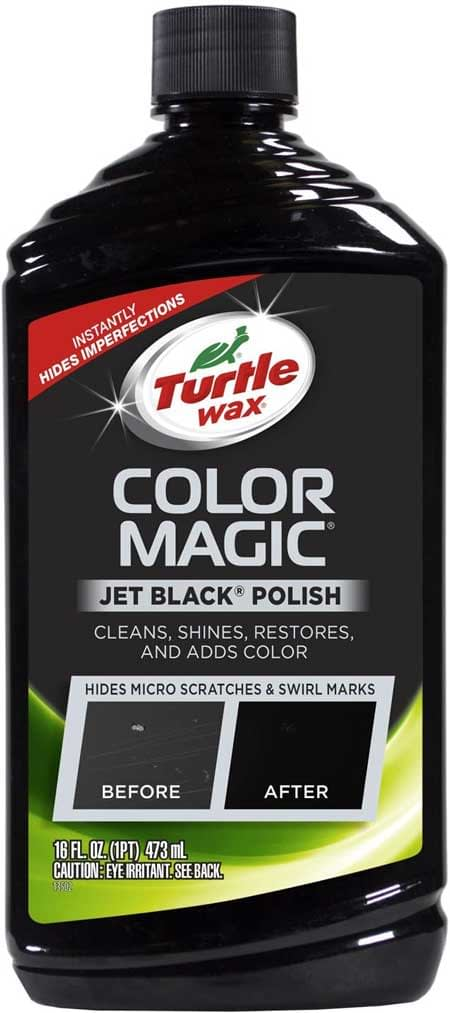 Turtle Wax T-374KTR Color Magic Car Polish, Black - 16 oz.