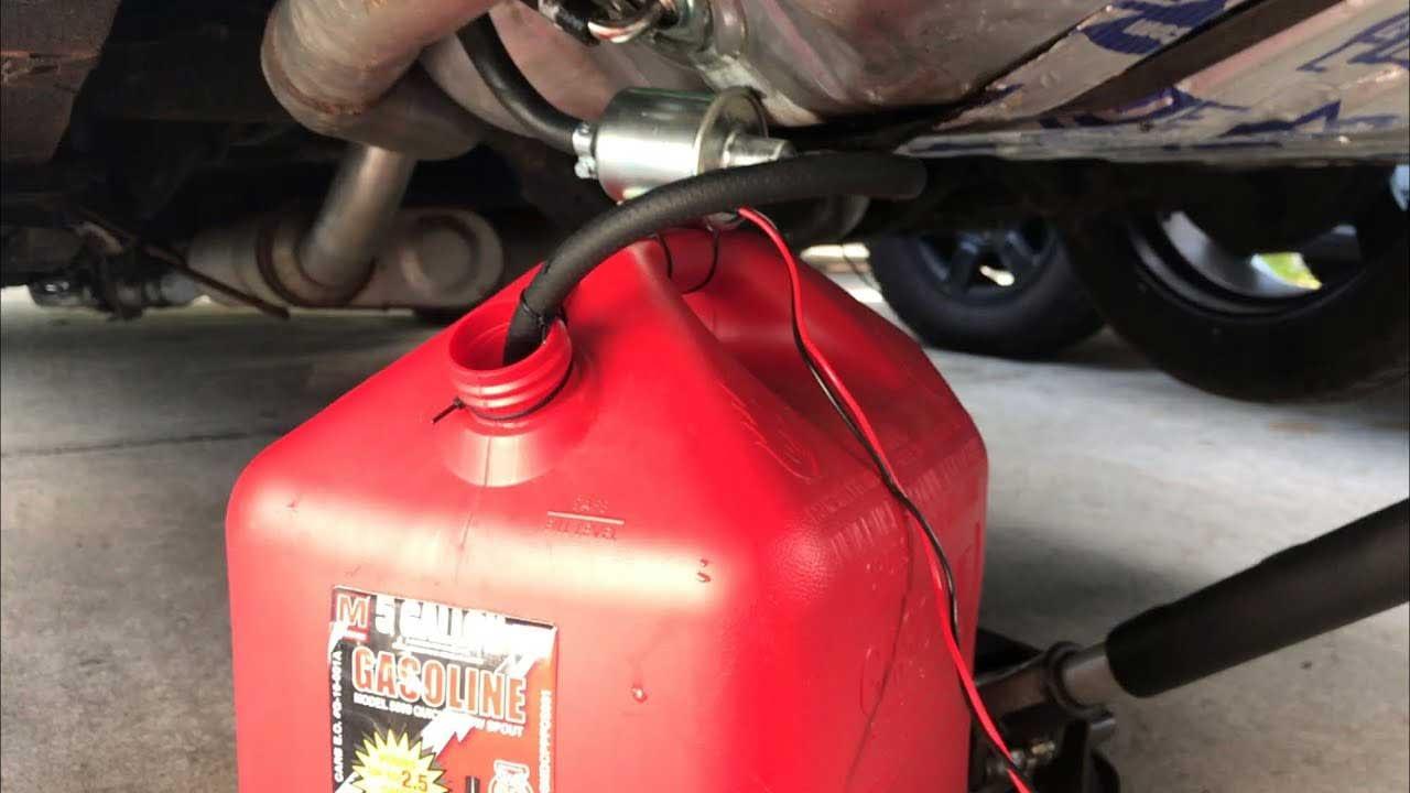 drain fuel tank diy