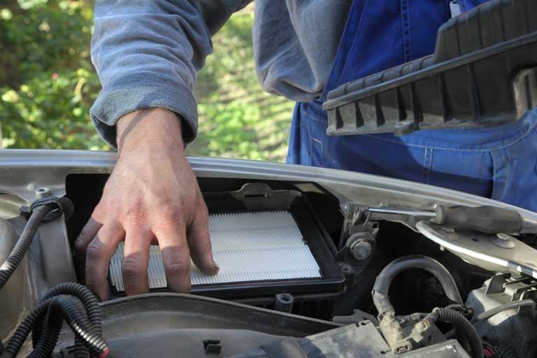 replacing air filter on any car